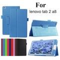 Защитная Сумка Фолио Кожа PU case для Lenovo Tab 2 A8-50LC личи Case Стенд Крышка Для Lenovo Tab2 A8 8 ''A8-50F Tablet