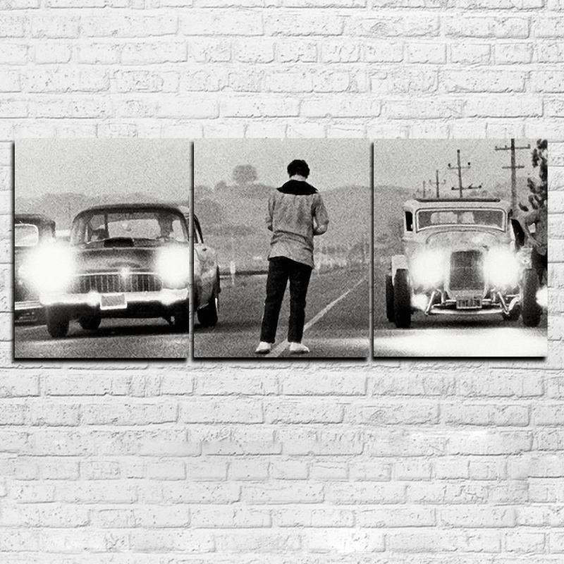 Modern HD Printed Painting Canvas Home Decor 3 Panels Movie Once Upon a Time in America Poster Frame Car Modular Pictures PENGDA