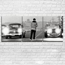 Современные HD с Холсты для живописи Дизайн и декор 3 панели фильм однажды в Америке плакат Рамка автомобиля модульная фотографии Pengda
