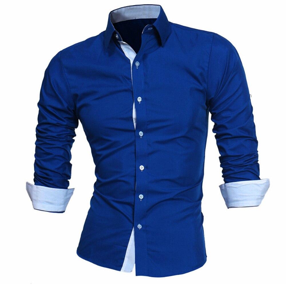 HTB1 KxoXvvsK1RjSspdq6AZepXa4 - #4 DROPSHIP 2018 NEW HOT Fashion Men's Autumn Casual Formal Solid Slim Fit Long Sleeve Dress Shirt Top Blouse Freeship