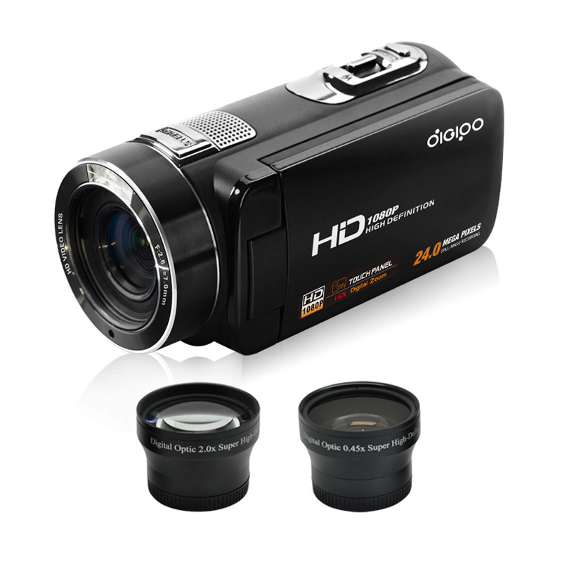 New ORDRO HDV-P809 Digital Video Camera Camcorder 1080P 2400 Mega Pixels 16x Digital Zoom with 3.0