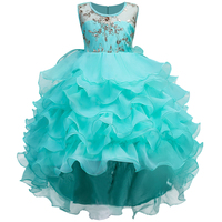 Christmas Clothing Princess Sequins Embroidery Dress Children Girl Dress For Wedding Teenager Party Prom Dresses 2