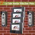 4 Monitor 2 Camera wired 7 video door phone intercom system video doorphone monitor access control video doorbell intercom
