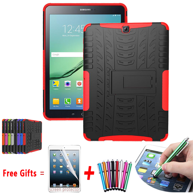 Armor Cover for Samsung Galaxy Tab S2 9.7 Case Kickstand Hyun Silicon Cover for Samsung Tab S2 9.7 Case of T815 T810 T813N T819N for tab s2 sm t810 kids safe shockproof heavy duty silicone hard case cover for samsung galaxy tab s2 9 7 t810 t815 hand hold