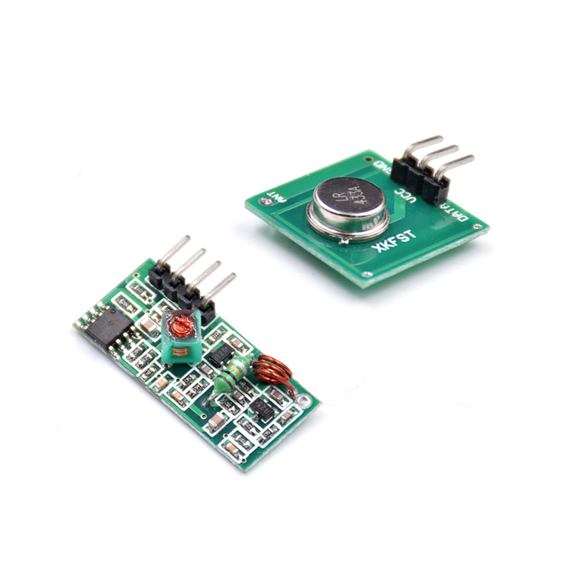 1 Lot= 50pair=100pcs RF Wireless Receiver Module & Transmitter Module Board Ordinary Super- Regeneration 433MHZ DC5V (ASK /OOK)