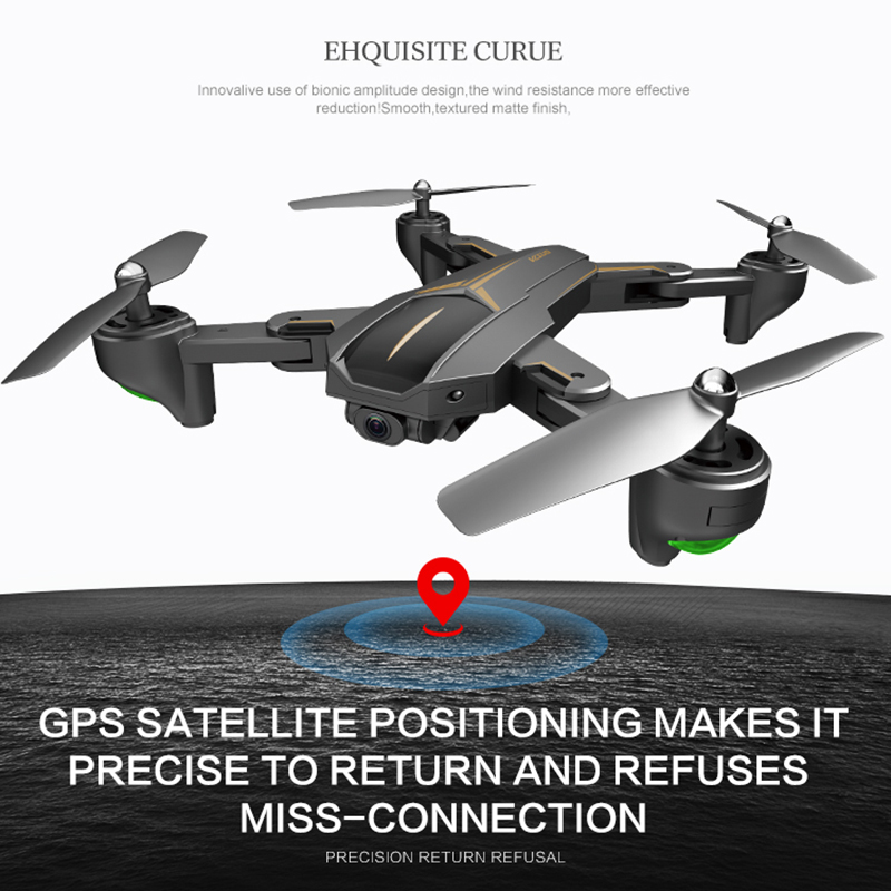 VISUO XS812 GPS RC Helicopter Mini Foldable Selfie RC Drone Wifi 2MP 5MP HD Camera 5G