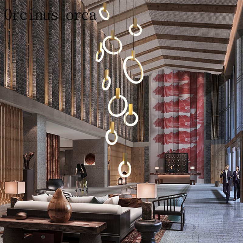 Nordic post-modern simple glass chandelier living room restaurant double staircase industrial wind creative art chandelier. modern fashion simple iron industrial wind pentagonal star chandelier hall corridor living room bedroom chandelier page 5