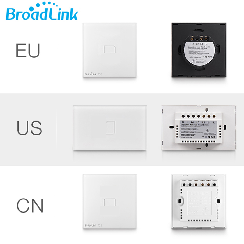 Broadlink TC2 1gang Light switch touch panel smart remote control Wireless controller wifi wall switch for home automation IOS original broadlink tc2 us tc2 touching 1gang panel wifi switch ios android wireless remote light controller 170v 240v smart home