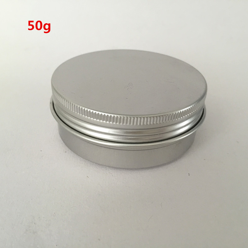 100pcs lot 50g ml Empty Aluminum Jars aluminum lip balm container Ointment Cream Sample Packaging