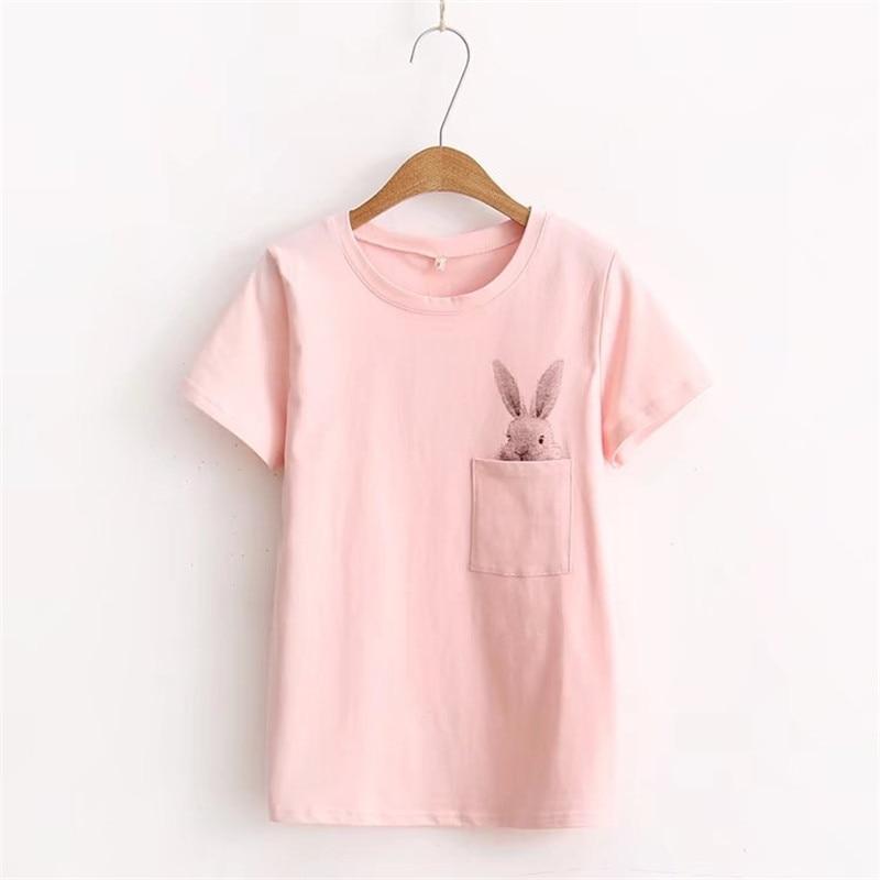 Pocket Rabbit Cute T-shirt 1