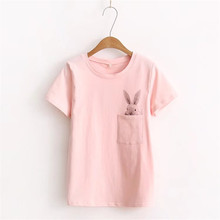 Women's T-Shirt with Bunny Print