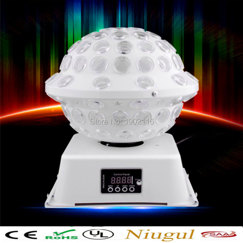 все цены на Niugul 2017 Newest Amazing RGB LED Crystal Magic Ball Stage Effect Lighting Lamp Party Disco Club DJ Light Show KTV LED lights онлайн