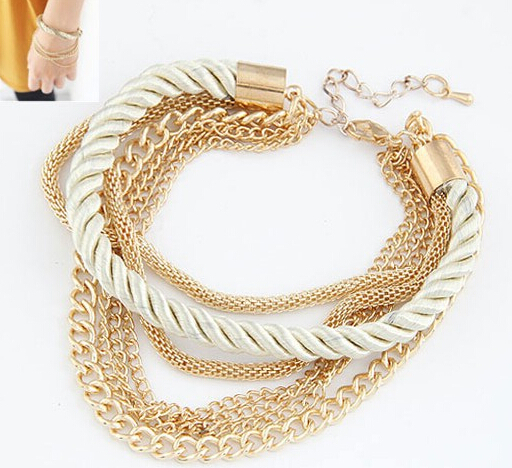 MINHIN Fashionable Rope Chain Decoration Bracelet For Girl Six Color Hot Selling Bracelet For Summer Party Special Accessory 5