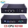 Partaker C5 Quad Core N3160 Fanless Mini PC PFsense Router Firewall Server With Windows Dual NICS