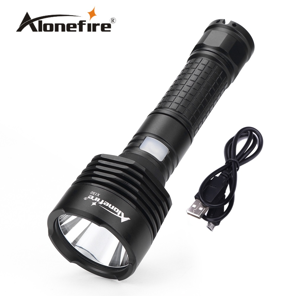 Alonefire X150 CREE XM-L2 led USB Flashlight Torch light for 18650 Rechargeable Battery nitecore mt10a 920lm cree xm l2 u2 led flashlight torch