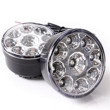 2016 New Real 12V Mercedes 1 PCS 9 Led Round Daytime Driving Drl Car Fog Lamp Running Light Headlight Electronics Accessories