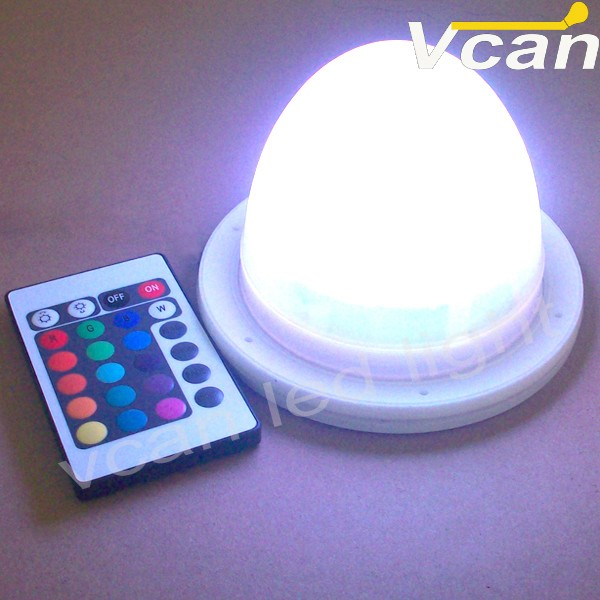 Waterproof Rechargeable Battery RGB LED Light Lamp