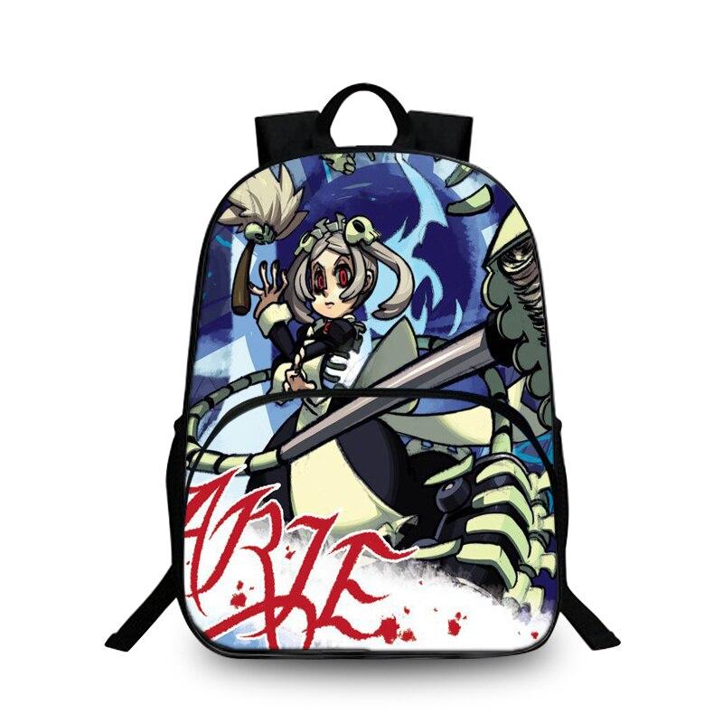 Baobeiku Skullgirls 3D Рюкзаки характер модный принт Сумки для детей школьная дети рюкзак для ноутбука дропшиппинг