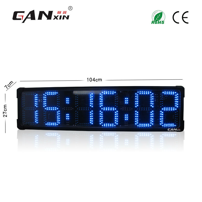 [Ganxin] 8 Inches Double-side Outdoor Led Timer Clock large decorative wall clocks