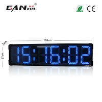 [Ganxin] 8 Inches Double side Outdoor Led Timer Clock large decorative wall clocks