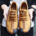 Men Shoes Fashion Quality Leather Breathable Lace Up Round Toe Casual Shoes Men Leisure Flat Casual Shoes Brand Shoes Men