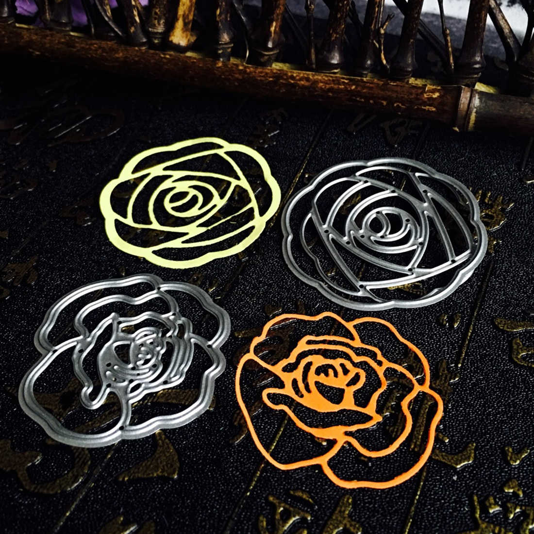 Album invitation Paper Craft embossing stencils art cutting dies Metal cutting dies rose flower wedding background Scraper card