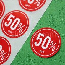Клейкая Дисконтная этикетка круглая 3 см, лента для одежды% скидка распродажа наклейка в горошек одежда брюки одежда сумка рекламная бирка