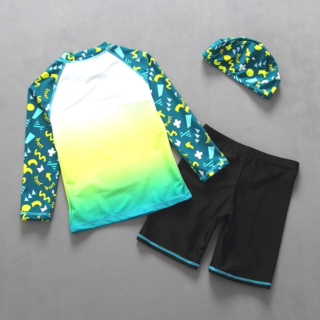 Children's Long Sleeves Two Pieces Swimming Suit