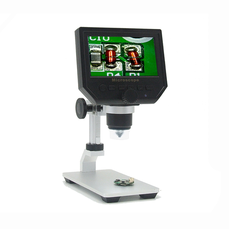 600x 3.6MP USB Digital Microscope With Aluminum Alloy Stent 4.3 Inches HD LCD Display for PCB Motherboard Repair