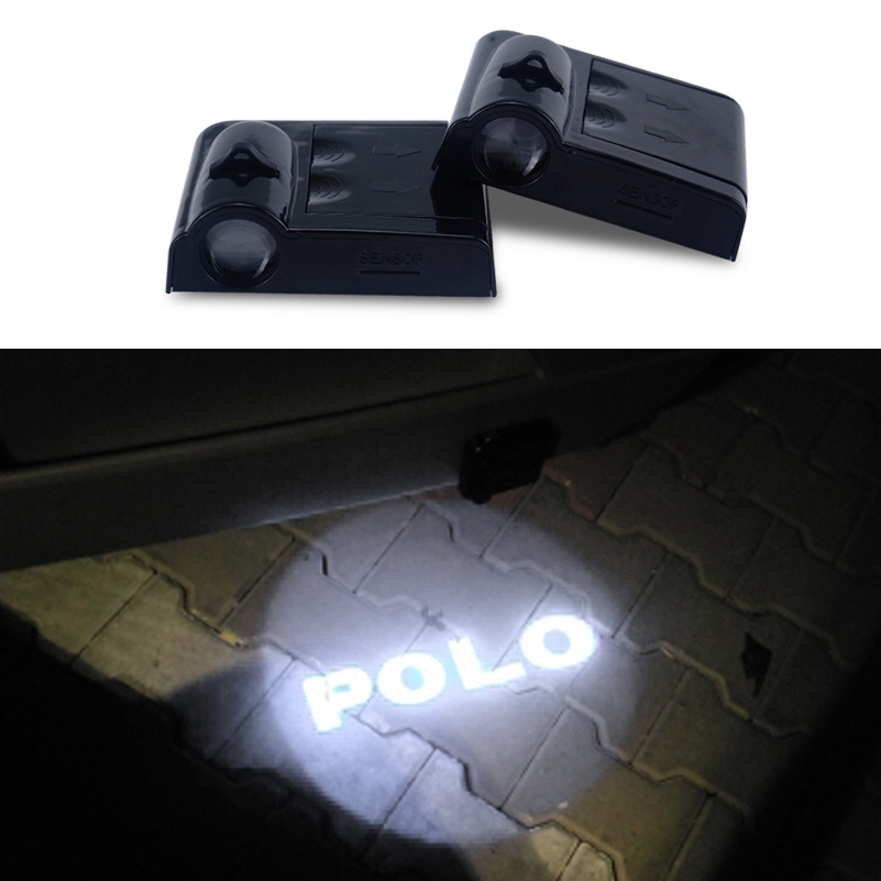 For VW Polo Logo Projecto LED Car Door Light Courtesy Light For Volkswagen beetle golf 4 5 passat b5 b6 touran tiguan jetta mk4 beler car grey interior dome reading light lamp itd 947 105 fit for vw golf jetta mk4 bora 1999 2004 passat b5 1998 2005