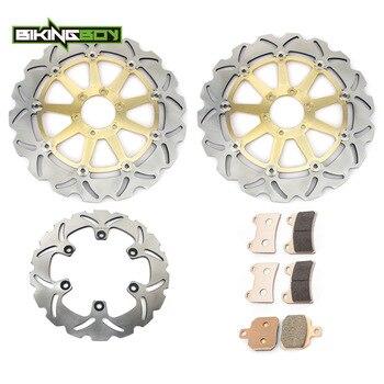 BIKINGBOY Front Rear Brake Discs Rotors Disks Pads 749 BIPOSTO 916 SPS 996 S MONSTER SUPERSPORT 750 800 900 1000 ST4 S ST2 00 01