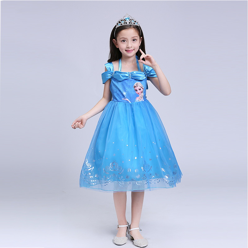 Multicolor 2017 New Elsa Anna Girls Dress Cosplay Party kid Dresses Princess Children clothing Baby Kids Toddler Girl Dress moana baby girls dress cosplay party dresses elsa anna princess moana kids clothes vestidos toddler girl dress children clothing