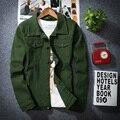 Burrima Spring Mens Solid Cargo Jackets Casual Pockets M-XXXL Black Jaqueta Masculina Windbreaker Veste Homme Chaqueta Hombre
