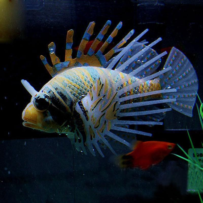 Tank aquarium decoration accessories silicone fish for Fake fish that swim