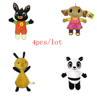 4pcs/Lot 25 30cm Cartoon Soft Bing Bunny Rabbit Toy Anime Stuffed Animals Plush Doll Sula Elepant Fox Unicorn For Girls Gifts