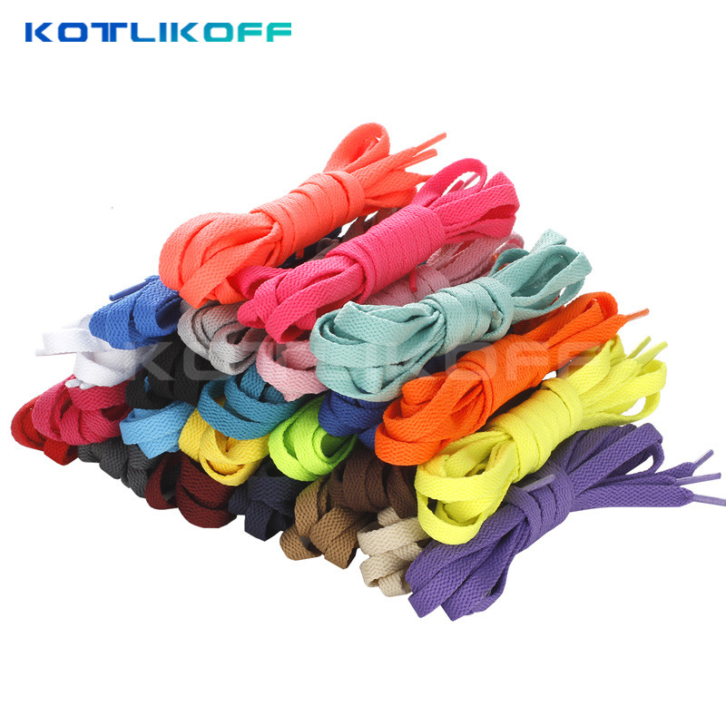 цена на KOTLIKOFF 2017 HOT SALE 3 Pair Shoelace Athletic Sport Sneakers Flat Shoelaces Bootlaces Shoe laces Strings For Multi Color