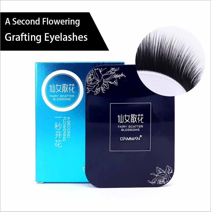 DAMMAN Mink Hair False Eyelashes Grafting Lashes Hand Made Thick Soft Lashes One Second Flowering Zero Touch B Curl Eyelashes
