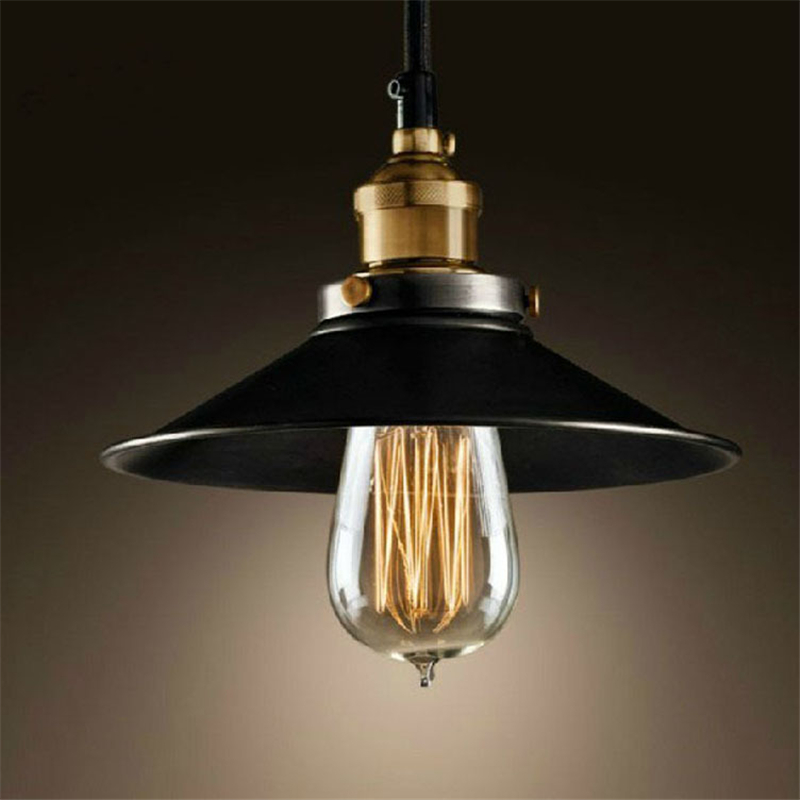 Nordic Retro Pendant Lights American Industrial Decor Living Room Pendant Lamp Restaurant Black Luminaire Shade Kitchen Fixtures