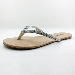 Image 2 - Zapatos informales para mujer, sandalias con abalorios y flores, chanclas florales de playa con hebilla, para verano, 2020