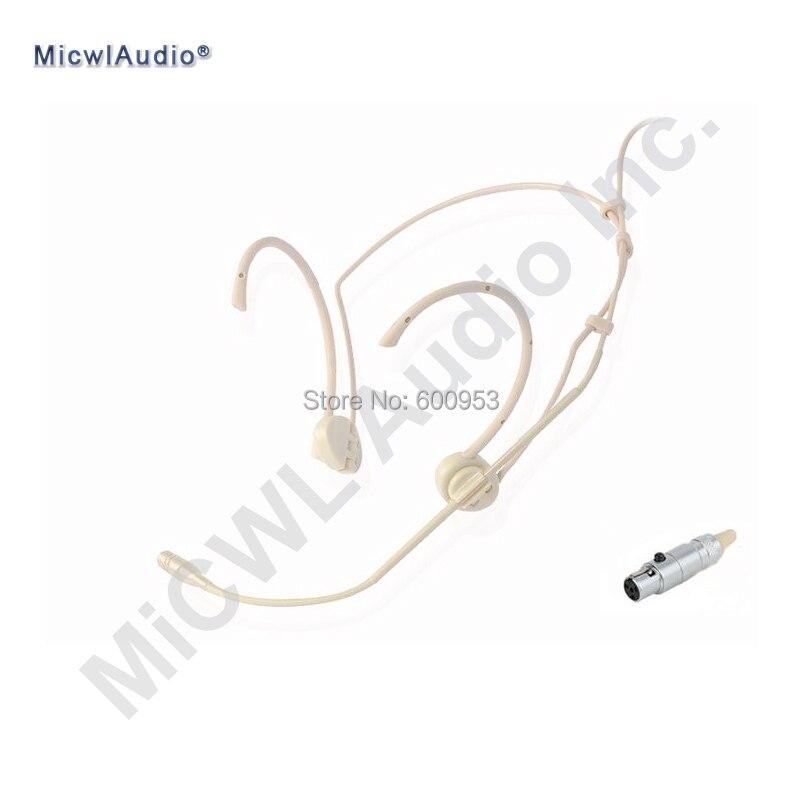 Micro casque sans fil de Performance de scène cardioïde Beige pour transmetteur Shure Mics TA4F professionnel pliable classique