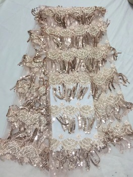 New style flower pattern stones african lace fabric with stones for party dress hot sale african 100% lace fabric