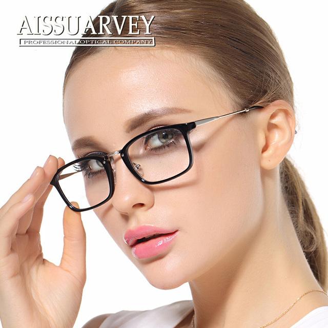 Mujeres gafas marco óptico de luz con receta gafas de marco negro de la vendimia de la marca de moda 1802 Corea Del cuadrado rojo lentes claros moypia