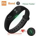 Original xiaomi mi banda 2 band2 miband pulseira pulseira cinta heart rate monitor de fitness rastreador oled touchpad inteligente