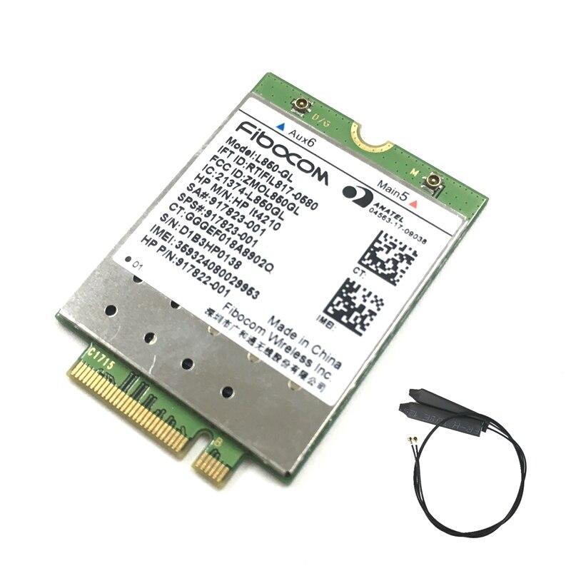 L850-GL LT4210 Fibocom Carte Sans Fil 917823-001 WWAN Mobile Module 4G LTE NEU pour HP 840 430 G5/440 G5/450 G5/640 G4/645 G4 G3