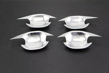 Chrome exterior outside outer door cup bowl accessories moulding trim 4pcs/set for 2016 Mitsubishi Outlander
