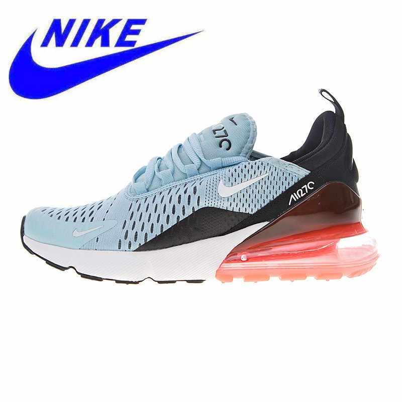 the latest 44e98 0f6b5 Original Nike Air Max 270 Women s Running Shoes, Light Blue   Red, Shock-