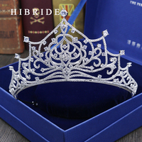 Luxurious Jewelry Cubic Zirconia Crown for Women Crystal Tiaras for Christmas Gifts Wedding Hair Accessories
