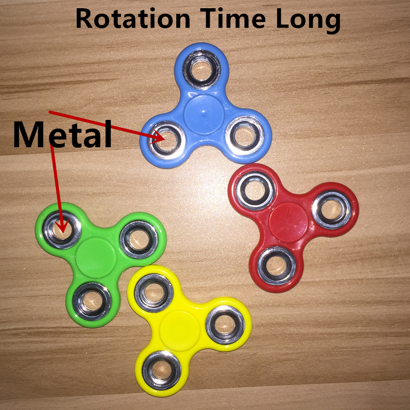 32pcs/lot DHL Free Shipping High Quality  Fidget Toys EDC Hand Spinner For Autism and ADHD Anxiety Stress  Relief Toys 7 colors lighting funny toy abs plastic edc hand spinner for autism and adhd rotation long time stress relief toys