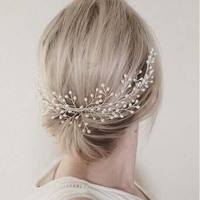 Generous Freshwater Pearls Hair Comb Bridal Hair Pins Accessories Gold Wedding Women Jewelry Headpiece Handmade SL
