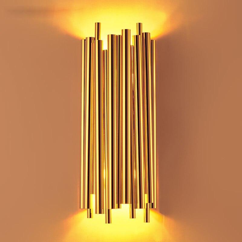 Italie Conception Post Moderne Mur Lampe De Luxe Tube En Aluminium D